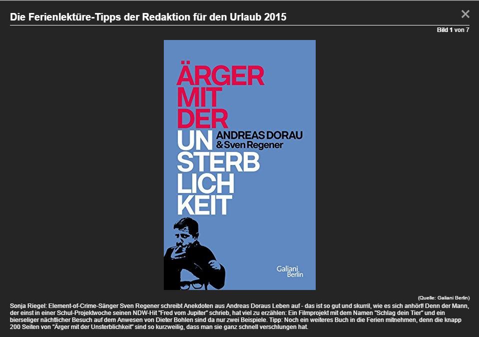 Lektüre-Tipp, Juli 2015 (Screenshot t-online.de)