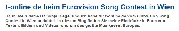 Blog zum Eurovision Song Contest in Wien