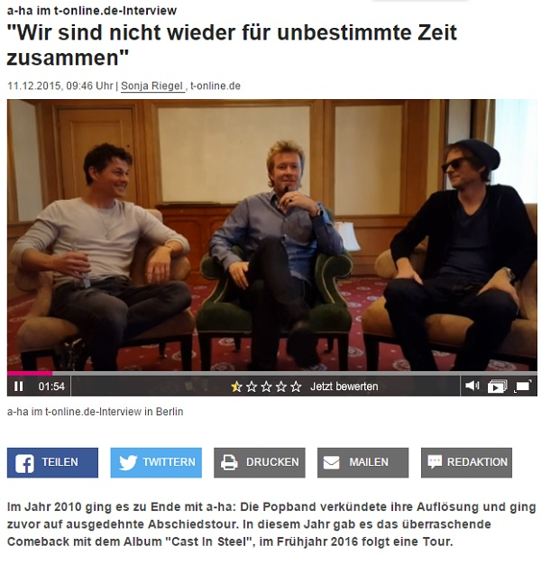 a-ha Interview